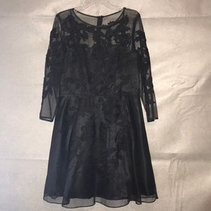 Adorable black mesh and lace party dress